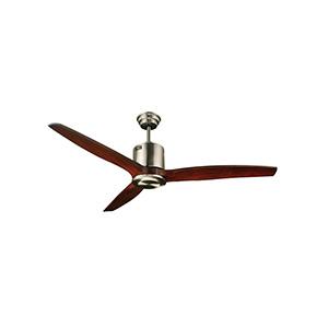 """52"""" 3-Blade Downrod Mount Fan Stainless Steel"""