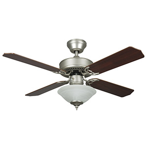 "42"" 4-Blade Dual Mount Fan with LED Light Kit Satin Nickel"