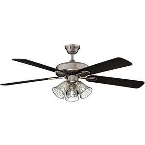 "42"" 5-Blade Dual Mount Fan with LED Light Kit Stainless Steel"