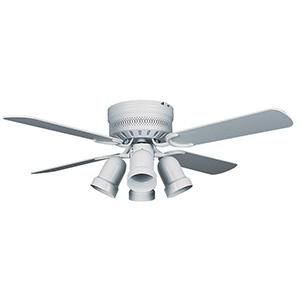"""42"""" 4-Blade Hugger Fan with LED Light Kit White"""