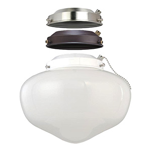3-in-1 LED Schoolhouse Ceiling Fan Light Kit