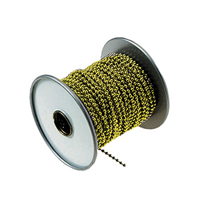 Beaded Chain 100 Ft Roll Brass
