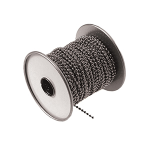 Beaded Chain 100 Ft Roll Brushed Nickel