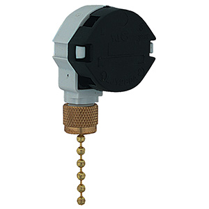 3-Speed Pull Chain Switch Polished Brass