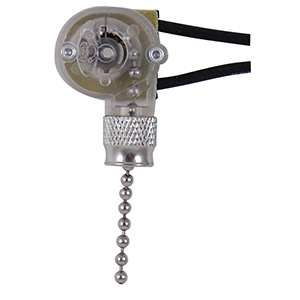 On/Off Pull Chain Switch Satin Nickel