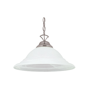 1-Light Pendant Fixture Satin Nickel