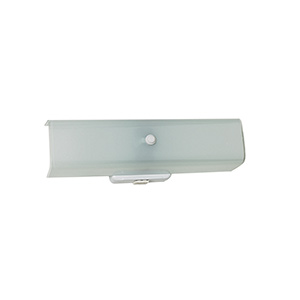 "14"" Channel Glass Fixture White"