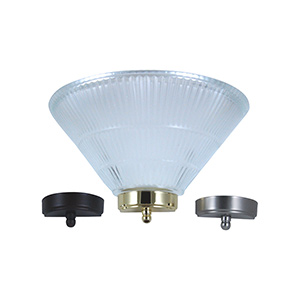 Clear Ribbed Glass Wall Sconce White