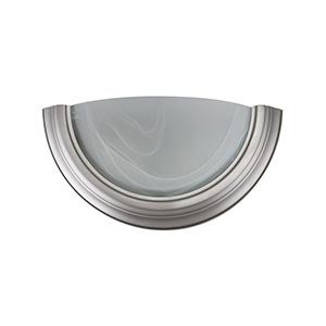 Alabaster Glass Wall Sconce Satin Nickel