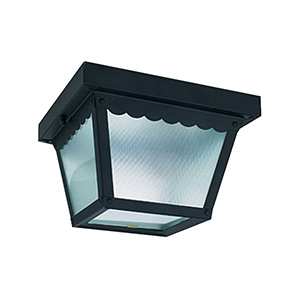 Black Metal Ceiling Fixture 9-1/4""