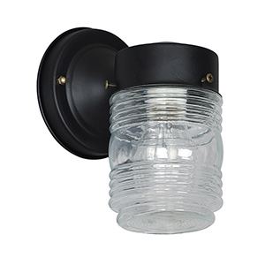 Black Metal Peanut Jar Fixture