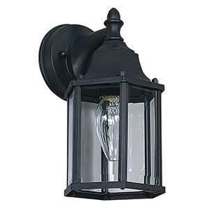 Black Cast Aluminum Lantern Fixture