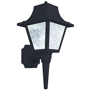 Black Polycarbonate Lantern Fixture