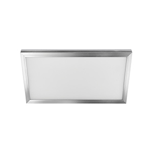 1' x 2' LED Flat-Panel Fixture Satin Nickel