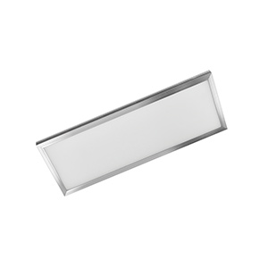 1' x 4' LED Flat-Panel Fixture Satin Nickel
