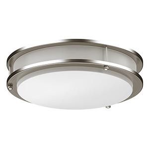 "10"" LED Round Ceiling Fixture Bright Satin Nickel"