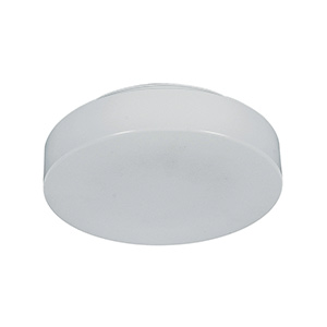 "11"" Fluorescent Drum Ceiling Fixture White"