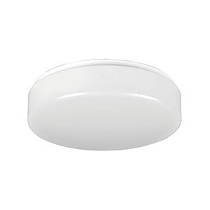 """11"""" Fluorescent Drum Ceiling Fixture White"""