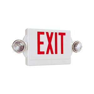 Lithonia 2-Head LED Exit/Emergency Combo