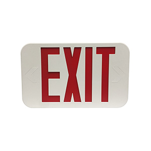 LED Exit Sign with Battery Backup Red Letters