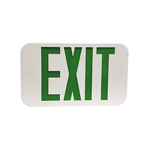 LED Exit Sign with Battery Backup Green Letters