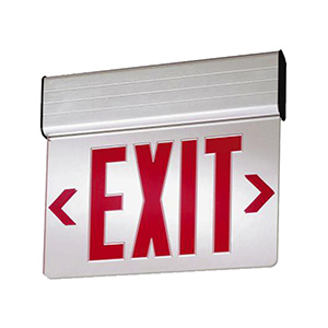 LED Edge-Lit Exit Sign with Battery Back-Up