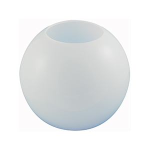 "12"" White Flush Mount Acrylic Globe"