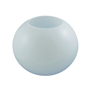 "16"" White Flush Mount Acrylic Globe"