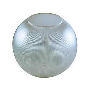 "12"" Clear Prismatic Flush Mount Acrylic Globe"