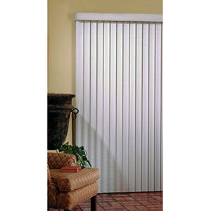 "Vertical Blind White 110""W x 84""L"
