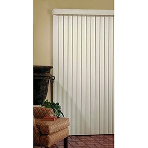 "Vertical Blind Alabaster 66""W x 84""L"