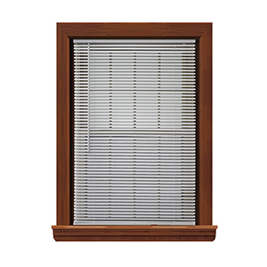 "Cordless Vinyl 1"" Mini-Blind White 24""W x 64""L"
