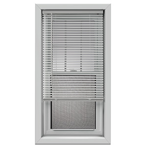 "Cordless Vinyl Plus 1"" Mini-Blind White 95""W x 48""L"