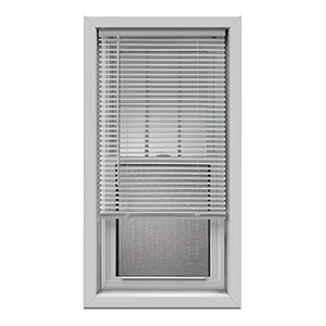 "Cordless Vinyl Plus 1"" Mini-Blind  White 25""W x 72""L"