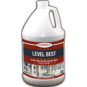 CarrollCLEAN Level Best High Solid Floor Finish Gallon