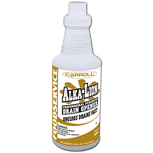CarrollCLEAN Alka-Lion Drain Opener 32 oz Bottle