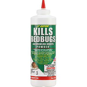 JT Eaton Bedbug Killer Powder, 7 oz Squeeze Bottle