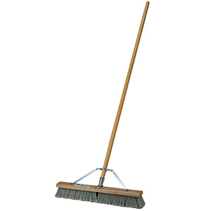 "24"" Poly Push Broom with Handle"