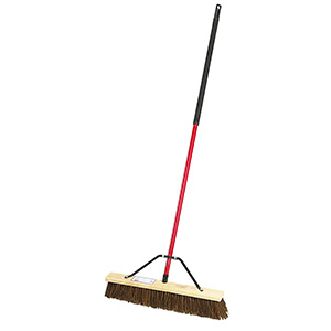 "24"" Palmyra Push Broom with Handle"