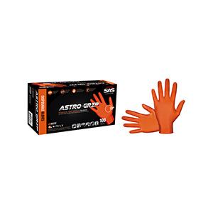 Astro-Grip Orange Disposable Nitrile Gloves, X-Large 100/Box, 66574