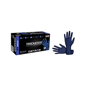 Thickster Blue Disposable Latex Gloves, Large 50/Box, 6603-20