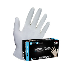 Disposable Latex Gloves Large 100/Cs