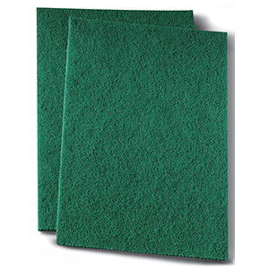 "Prime Source Green Scrub Pad 6"" x 9"""