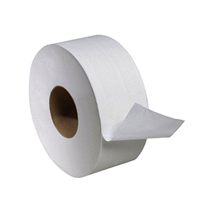 "Jumbo 9"" Diameter Commercial Two-Ply Toilet Tissue"