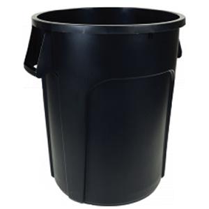 O'Cedar Heavy-Duty Trash Can 55-Gallon Black Trash Can