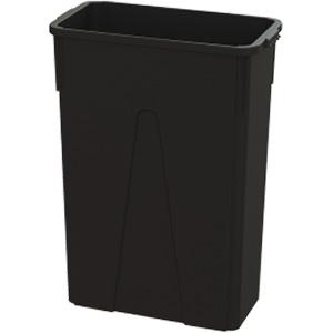 O'Cedar 23-Gallon Slim Trash Can 23-Gallon Black Trash Can