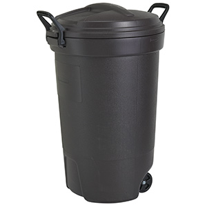 32 Gallon Rubbermaid Trash Can w/Lid and Heavy-Duty Wheels