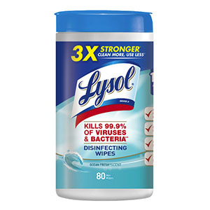 Lysol Disinfecting Wipes 80 Count