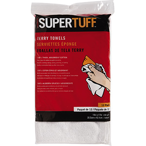 Terry Cloth Towels, Pack of 12