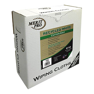 Merit Pro Recycled White Cotton Knit Cloth White Rags